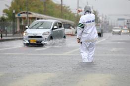 مصرع 4 أشخاص فى أمطار غزيرة باليابان و إجلاء مئات الآلاف
