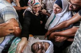 المئات يشيعون جثمان الشرطي الذي قتل في تفجير انتحاري برفح فجر اليوم