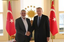 اردوغان لهنية : سنقدم كل مطلوب لمواجهة كورونا في غزة