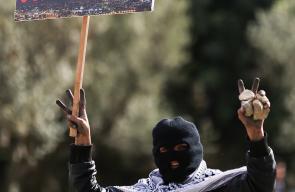المواجهات التي اندلعت بين الشبان وقوات الاحتلال على المدخل الشمالي لمدينة البيرة