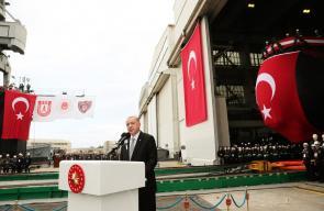 أردوغان يكشف النقاب عن اول غواصة حريبة من صناعة تركيا