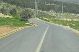 """الاشغال تعيد تاهيل طريق في طوباس بكلفة """"360"""" الف شيكل"""