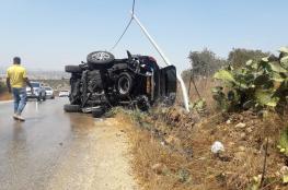 الضفة الغربية : مصرع 4 مواطنين وإصابة 234 آخرين في 282 حادث سير الأسبوع الماضي
