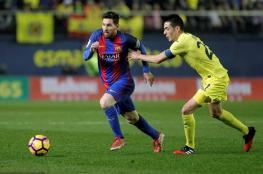 """ميسي ينقذ برشلونة من خسارة محققة امام """"فياريال """" ..فيديو"""