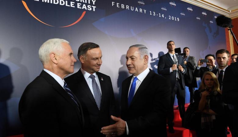 """نتنياهو يلقي كلمة اليوم في مؤتمر """"وارسو """""""