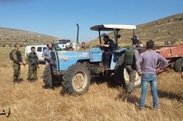 اعتقال 3 مزارعين ومصادرة آليات زراعية قرب طوباس