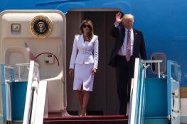 ميلانيا تصفع يد ترامب وترفض مصافحته في تل أبيب ...شاهد