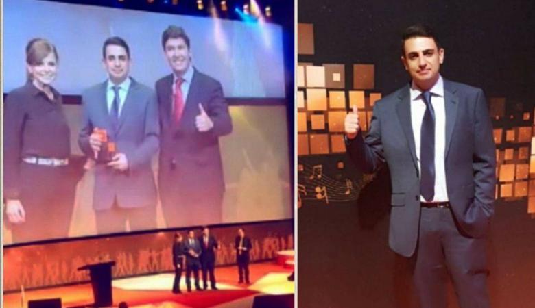 فلسطيني يحصل على جائزة أفضل موظف في اسبانيا