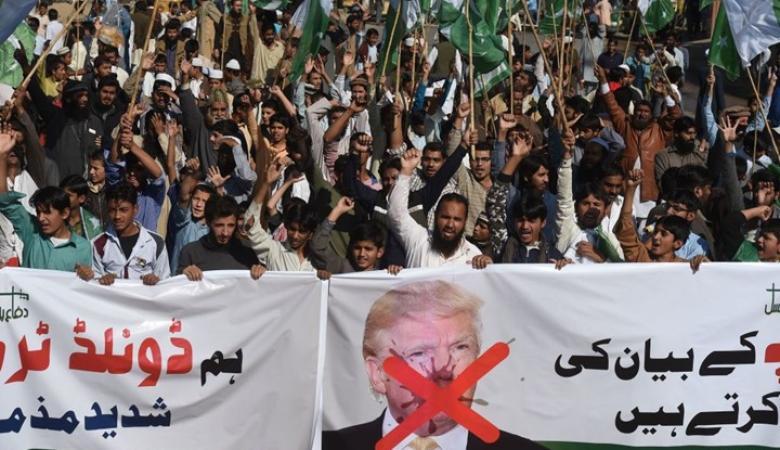 """مسيرات غاضبة في """"باكستان"""" ردا على تصريحات ترامب"""