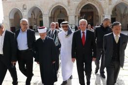 وفد عربي واسلامي يزور المسجد الأقصى المبارك