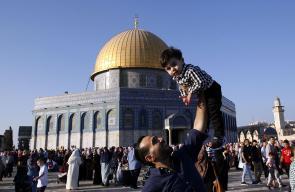 جانب من احياء مدينة القدس لاول ايام عيد الاضحى المبارك.