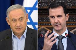 """نتنياهو يوجه رسالة مباشرة الى الرئيس السوري """"بشار الأسد """""""