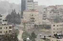 شاهد ..الثلوج تتساقط على مدينتي رام الله والبيرة
