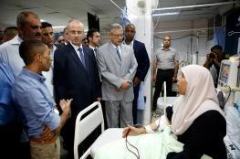 الحمد الله يجري جولة تفقدية في مستشفى طولكرم الحكومي