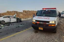 مصرع رضيعة فلسطينية واصابة 8 آخرين في حادث سير قرب أريحا