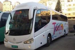 الاحتلال يستولي على حافلة على طريق نابلس-رام الله
