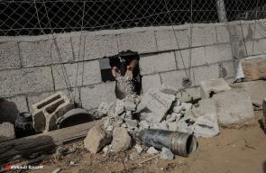 اضرار بعد قصف مدفعي اسرائيلي على غزة فجر اليوم