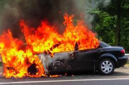 مواطن يحرق سيارته بسبب مخالفة بغزة والشرطة توضح