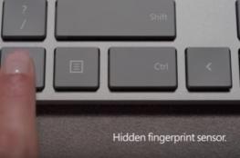 لوحة مفاتيح جديدة بقارئ للبصمة من مايكروسوفت