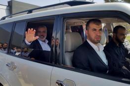 وفد من حماس برئاسة هنية يتوجه إلى القاهرة