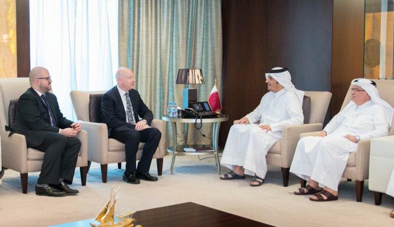 لقاء امريكي قطري في الدوحة بخصوص قطاع غزة