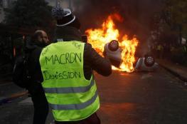 """السترات الصفراء  في فرنسا ...شهر حاسم لاسقاط قرارات """"ماكرون"""""""