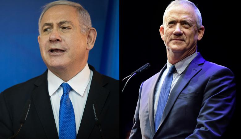 """نتنياهو وغانتس يتنافسان على رئاسة حكومة """"اسرائيل """""""