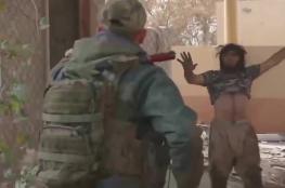 """لحظة القبض على داعشي في الموصل """"فيديو """""""
