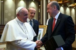 مباحثات بين أردوغان والبابا حول القدس