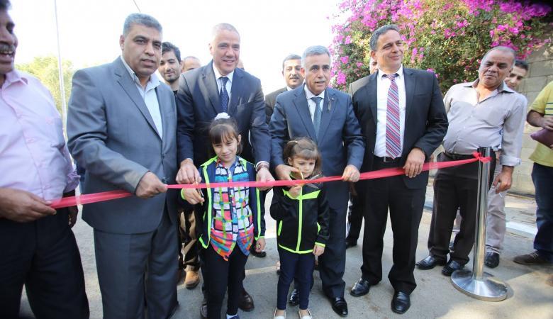 """الحكم المحلي تفتتح أول مشاريع البنية التحتية في مناطق """"ج """" بقلقيلية"""