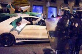 فرنسا توقف عشرات الجزائريين في اعقاب الفوز الغالي