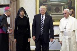 ترامب وبابا الفاتيكان يتعهدان بالعمل من أجل السلام