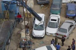 الشرطة تتلف عشرات المركبات غير القانونية جنوب نابلس