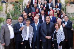 """الحمد الله يكرم مدرسة """"بنات العودة """" والطالب قسام صبيح بعد تحقيقهم نتائج مبهرة"""