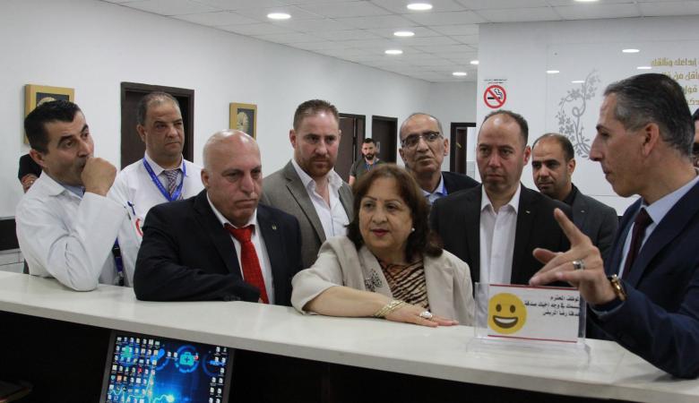 وزيرة الصحة تشيد بأداء مديرية صحة رام الله والبيرة