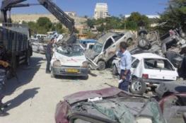 الشرطة تتلف 93 مركبة غير قانونية في نابلس وأريحا