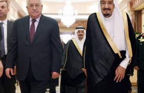 الرئيس  محمود عباس يجتمع مع الملك سلمان في الرياض
