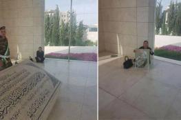 """زوجة مروان البرغوثي تنهي اعتصامها داخل ضريح"""" عرفات """""""