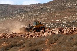 الاحتلال يجرف 22 دونما شمال غرب بيت لحم