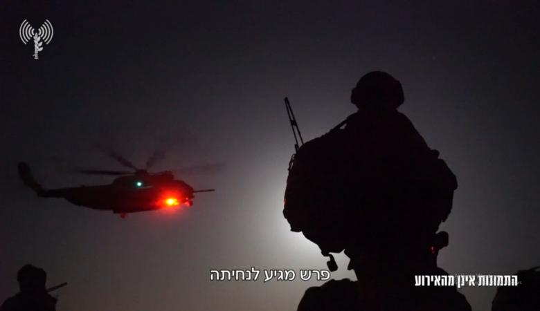 """""""اسرائيل """" تنشر مشاهد اجلاء جنودها من  خانيونس"""
