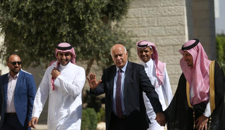 """الرجوب : """"قدوم المنتخب السعودي لرام الله يساعدنا في معركتنا """""""