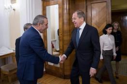حسين الشيخ يجتمع بوزير الخارجية الروسي