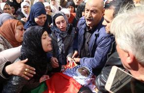 جنين - تشييع جثمان الشهيد عبد الله فيصل طوالبة ( 20 عاما ) في بلدة الجلمة