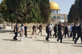70 مستوطنا اقتحموا المسجد الاقصى منذ الصباح