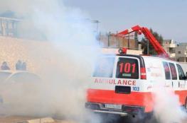 إحصائية الهلال الأحمر للإصابات بمواجهات اليوم في كافة مناطق الضفة