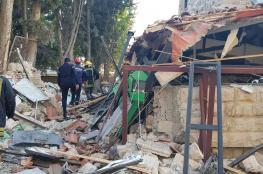 شاهد..انهيار مطعم في العاصمة الاردنية عمان بعد تعرضه لانفجار