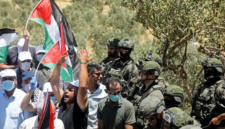 6 إصابات خلال قمع فعالية احتجاجية شمال نابلس