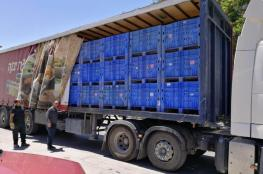 ضبط 42 صندوق بطيخ مجهول المصدر في نابلس