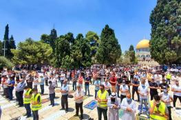 آلاف الفلسطينيين ادو صلاة الجمعة في رحاب الاقصى