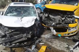 تسع اصابات بينها خطيرة في حادث سير مروع شمال طولكرم